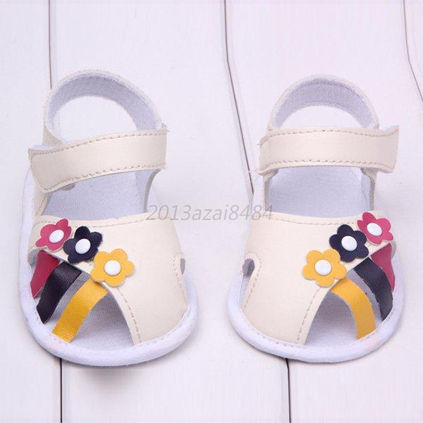 Baby & Kids Shoes Summer Colorful Flowers Soft Soled Walking Shoes Sandals 0-1T