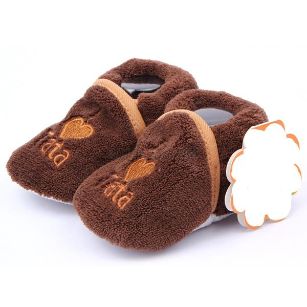 Baby Girl Boy Warm Soft Cozy Shoes Slippers Newborn Toddler 0-12M