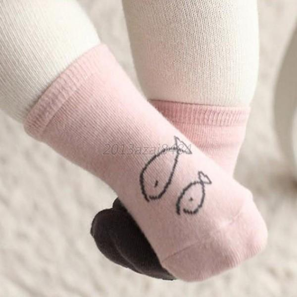Cute Toddler Baby Kids Soft Socks Cartoon Owl Pattern Socks Cotton Socks A18