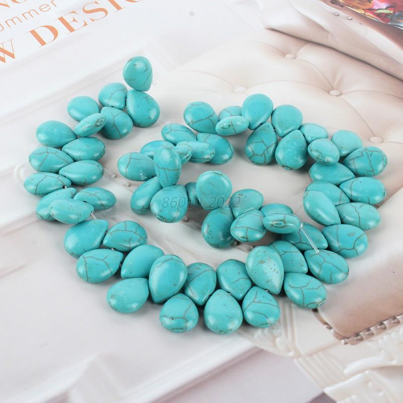 Wholesale Natural Blue Turquoise Gemstone Multi-Shape Loose spacer Beads 16
