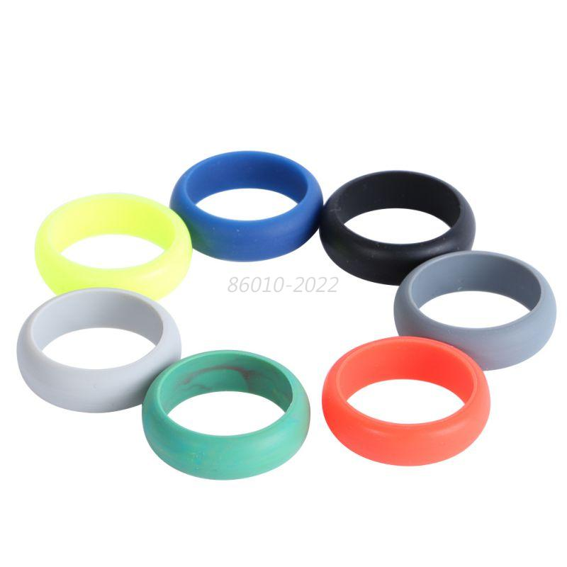 Rubber Wedding Rings For Men >> Ring Wedding Sports Men Rubber Silicone Sport Band Gift Husband Work Travel Set | eBay