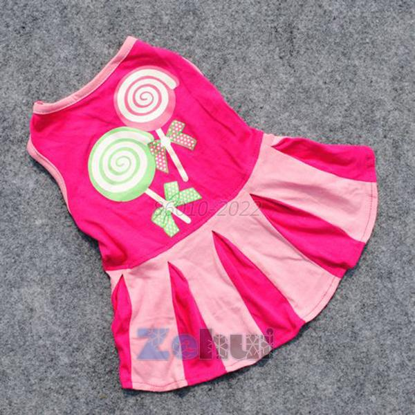 Hot Small Dog Pet Mini Dress Apparel Puppy Cat Skirt Stripe Clothes Costume XS-L