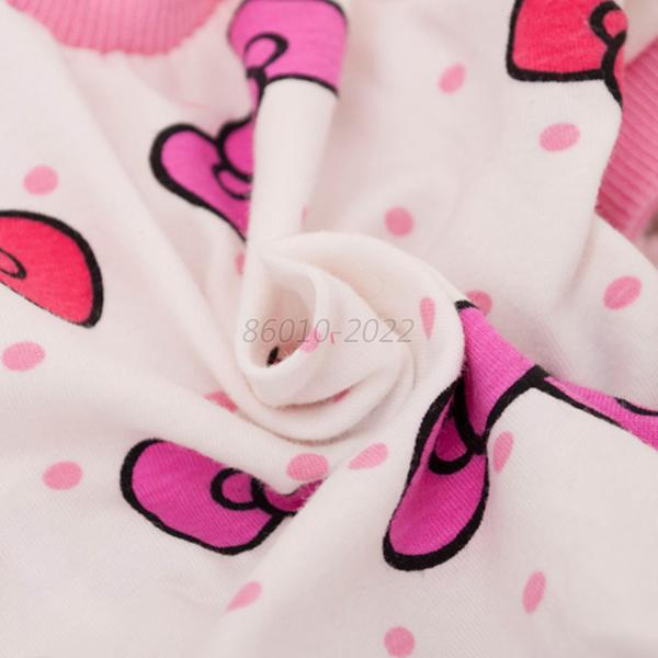 Lovely Puppy Dog Cartoon Printed Pajamas Pet Cotton Jumpsuit Shirt Clothing Coat