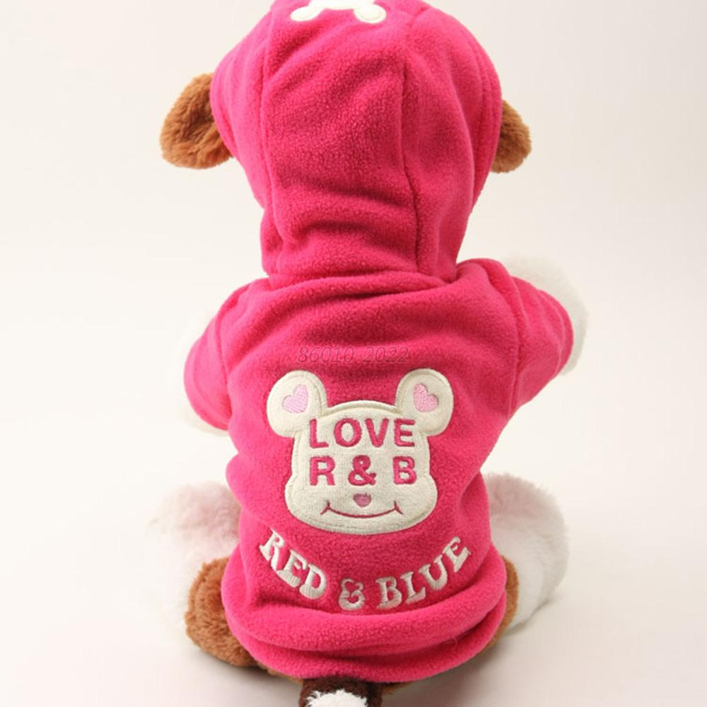 Pet Cute Cartoon Hoodie Sweater Coat Apparel Warm Clothes for Dog Pet Cat B17