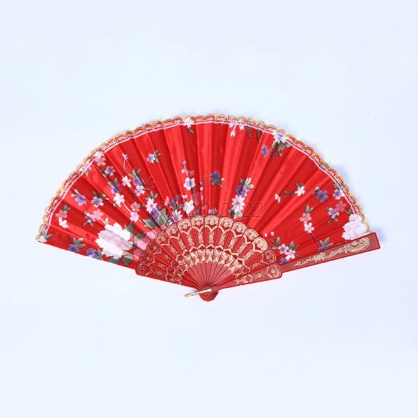Floral Folding Foldable Hand Held Fan Wedding Party Decor Summer Pocket Fan B72