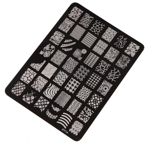 Multi Patterns Nail Art Image Stamp Stamping Plates Manicure Template Tools B64