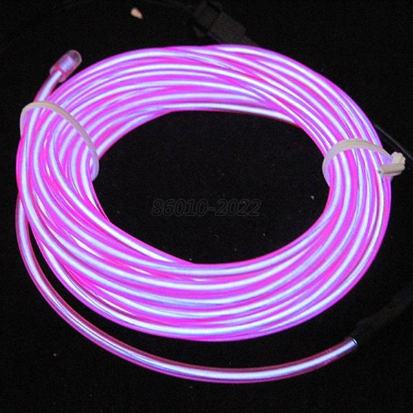 Xmas Flexible Neon Light Glow EL Wire Rope Cable Strip LED + 12V Conctoller B73