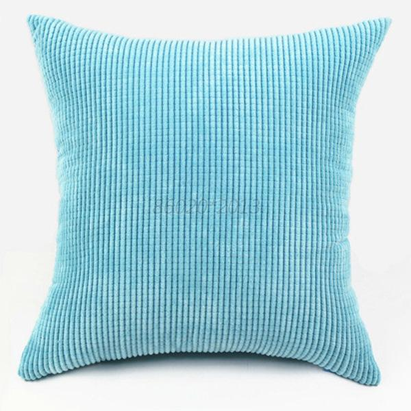 Throw Pillow Bolster : Big 55X55cm Bolster Kernels Corduroy Cushion Cover Pillow Throw Case Home Decor eBay