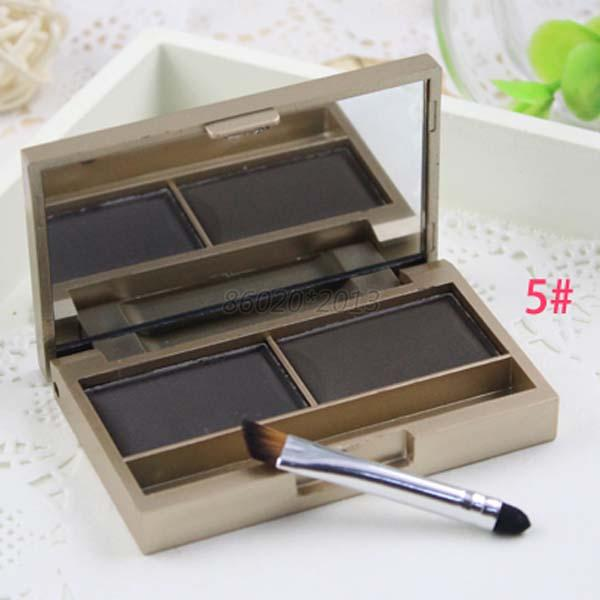4g Neutral Eye Brow Palette Makeup Shading Kit Eyebrow Powder with Brush Mirror