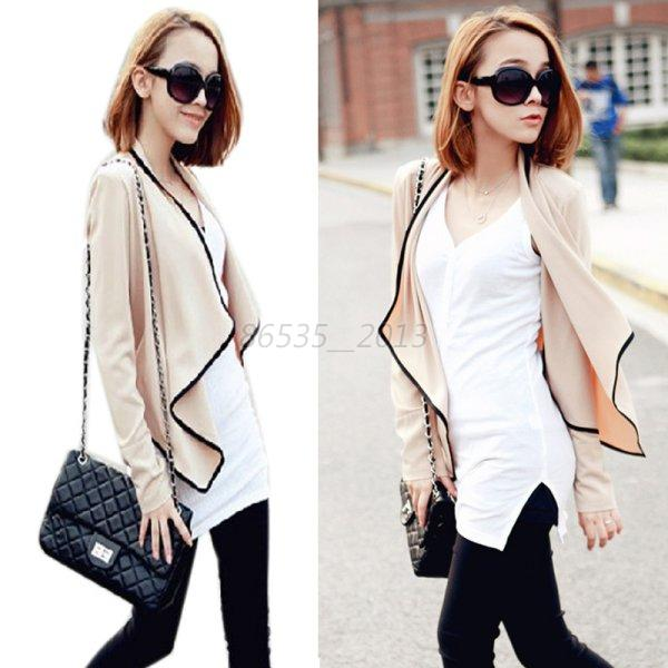 Women Casual Bolero Irregular Shrug Tops Short Cardigan Coat Suits Blazer Jacket