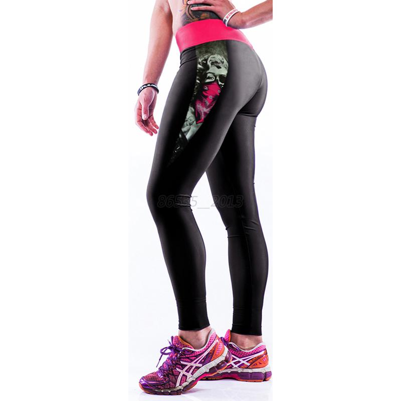 Stylish 3D Printed Sport Leggings Women Yoga Running Fitness High Waist Pants