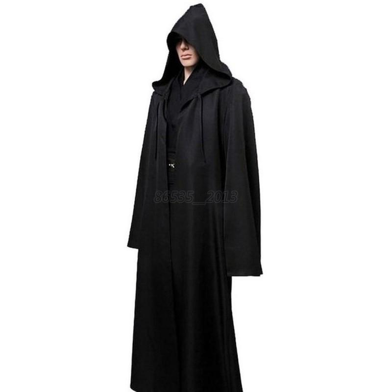 Halloween Adult Brown Star Wars Robe Hooded Cloak Cape Party Cosplay Costume New