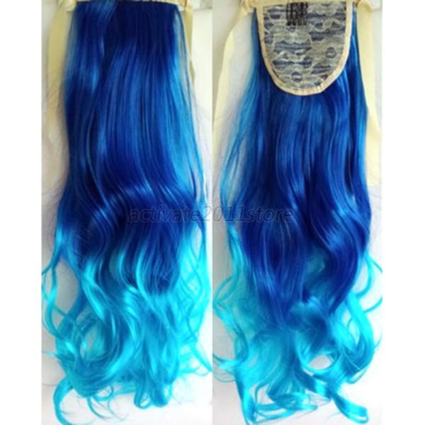 colorful hair clip on hairpieces clip in ombre hair