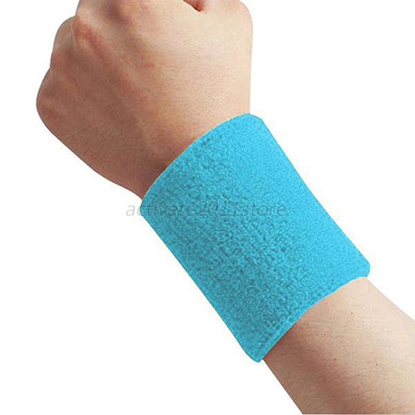 Towel To Wipe Sweat: Unisex Sport Tennis Gym Wristband Cotton Wrist Wipe Sweat