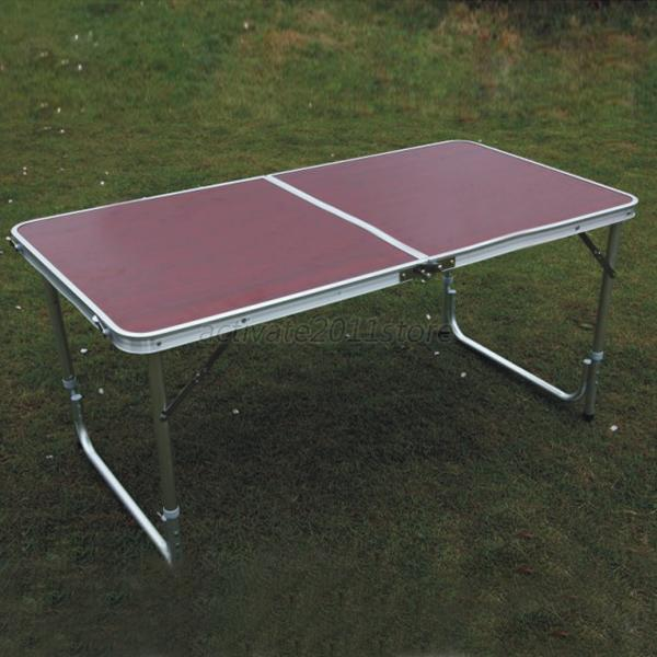 Dining Camp Folding Table Portable Picnic Indoor Outdoor Metal Tables