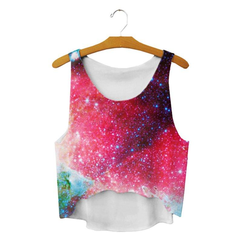 Women Tank Top Cropped Vest Blouse Casual Sleeveless Floral Printed T-shirts A89