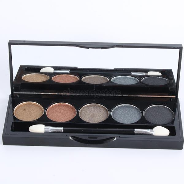Pro 5 Colors Eye Shadow Palette Matte Shimmer Eyeshadow Makeup Tool Cosmetic Set