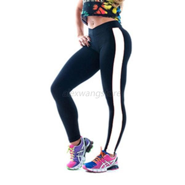 Women Soft YOGA Running Sport Pants High Waist Slim Leggings Fitness Trouser A20