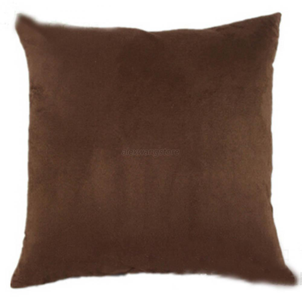 New Suede Fashion Sofa Car Office Decor Cushion Cover Throw Pillow Case Modern eBay