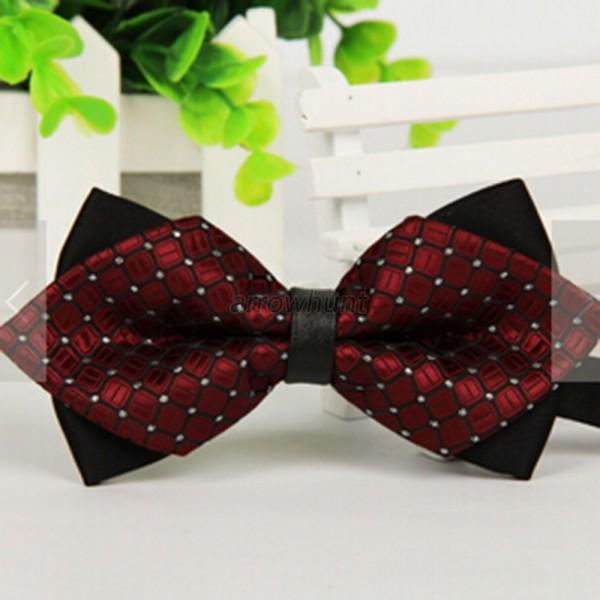 Classic Bow Tie Fashion Men Women Adjustable Tuxedo Bowtie Wedding Party Necktie