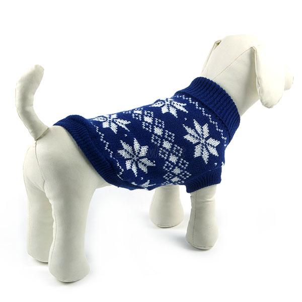 Winter Dogs Pet Xmas Snowflake Sweater Clothes Knit Coat Cozy Apparel XS-XXL ARj