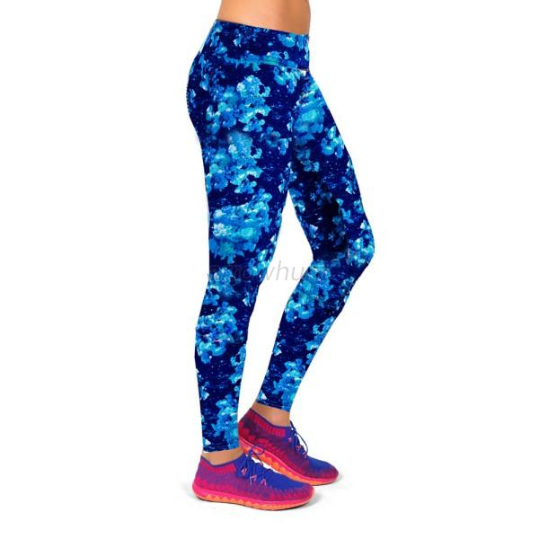Women YOGA Running GYM Sport Pants Floral Print Leggings Fitness ...