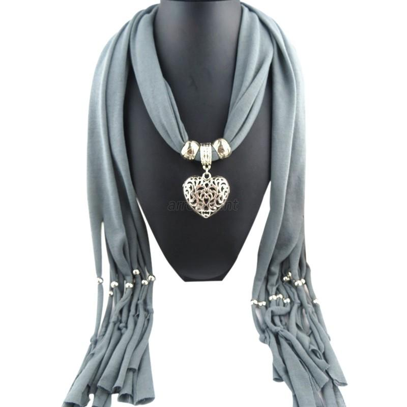 pendant necklace scarf charm jewelry necklace scarves