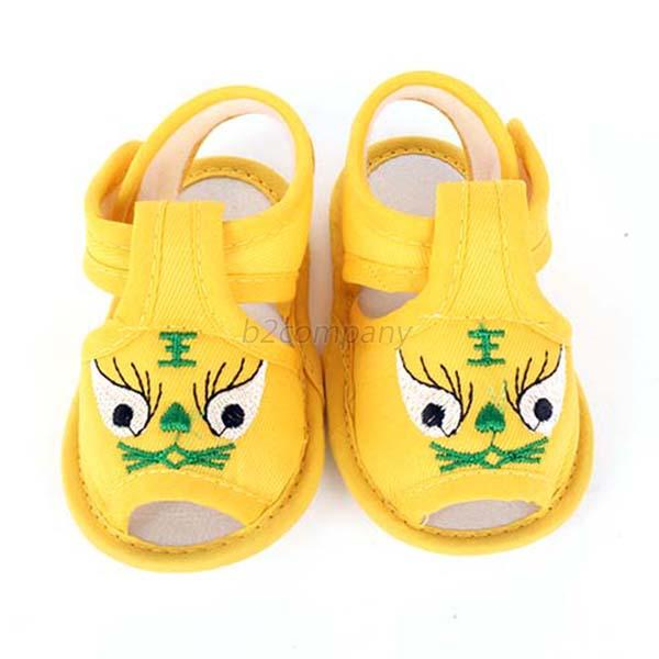 Unisex Toddler Baby Girl Boy Soft Sole Tiger Pattern Crib Shoes Walking Sandals
