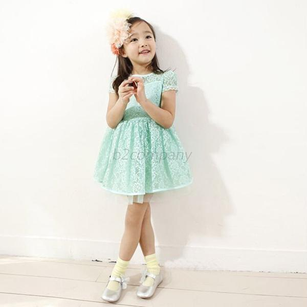 Sweet 1PC Lace Double Layer Skirt Kid Baby Girl Pageant Princess Dress Costume