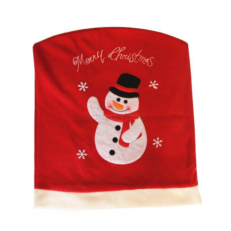 Home-Party-Decor-Santa-Claus-Snowman-Christmas-Dining-Room-Dinner-Chair-Covers