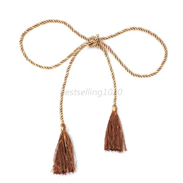 Natural Rope Curtain Tie Backs Decorative Holdbacks For Voile Net Curtain Panels Ebay