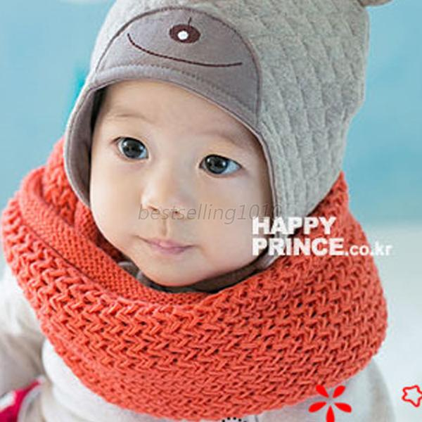 Warm Kids Baby Boys Snood Scarf Wool Candy Color Neckerchief Scarves 1-6 Y BE5