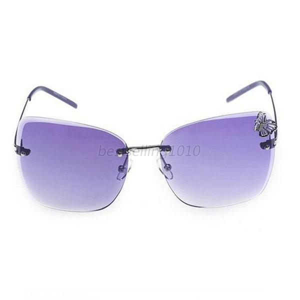 Frameless Vintage Glasses : Retro Women Vintage Rimless Sunglasses Frameless Butterfly ...