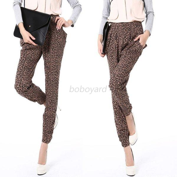 Innovative New Korean Women Girls Pensil Long Harem Pants Leopard Casual Skinny