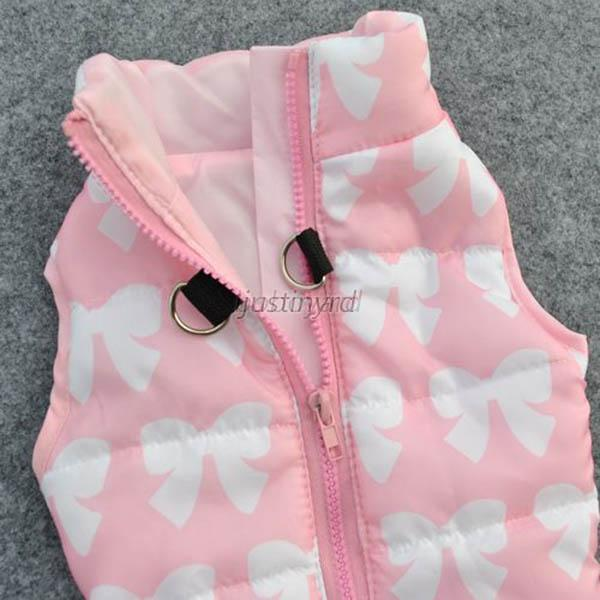 Winter Pet Dog Cat Puppy Jacket Coat Sleeveless Cold-Proof Coat Vest Harness NEW