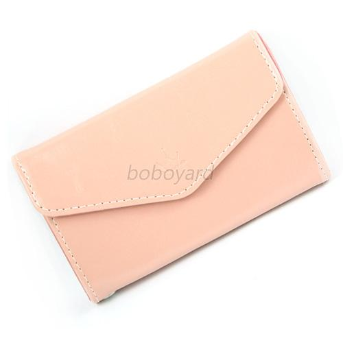 Candy Color Women PU Leather Handbag Wallet Phone Bag ID Credit Card Case B18