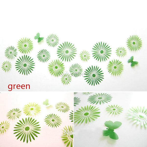 Removable Wall Stickers Home Decor Art Decal Mural Room DIY Sunflower 16Pcs D73