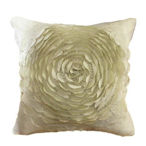 Taffeta Rose Flower Couch Cushion Cover Home Decorative Throw Pillow Case D47 eBay