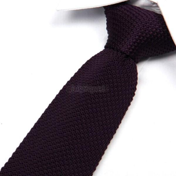 Men's Fashion Solid Tie Knit Knitted Tie Necktie Narrow Slim Skinny Woven D81
