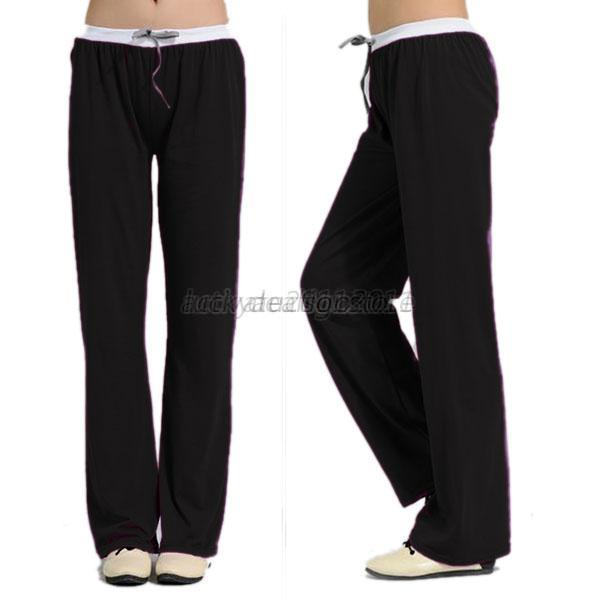Women Soft Comfy Yoga Loose Sweat Lounge Gym Sports Athletic Pants Leggings D47
