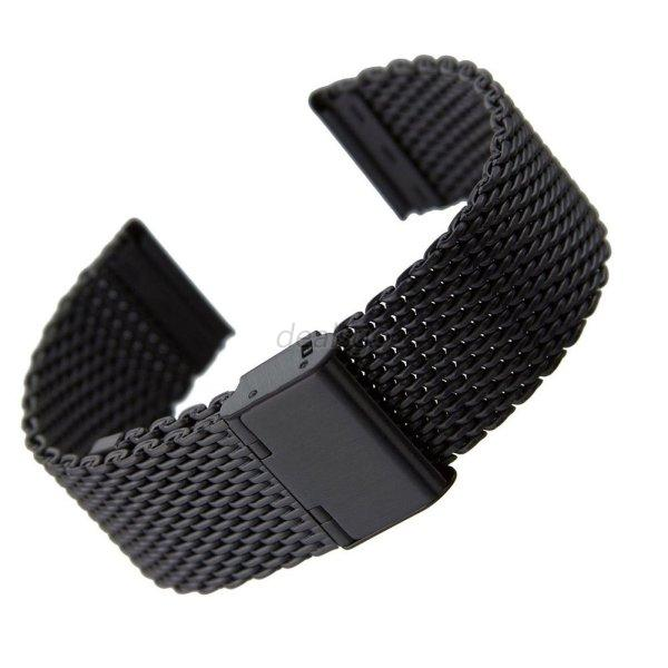 NEW 18-24mm Stainless Steel Watches Mesh Band Strap Double Clasp Bracelet   D33