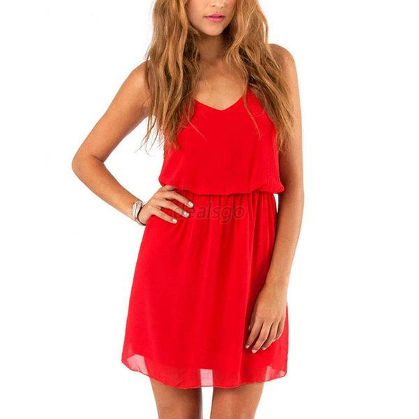 New Womens Summer Sexy Chiffon Casual Party Evening Cocktail Short Mini Dress