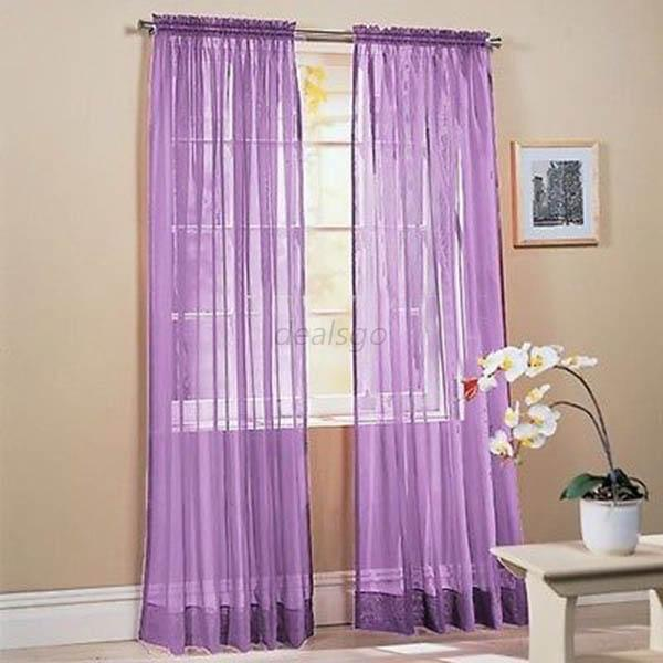 multi color polyester solid scarf door drape assorted