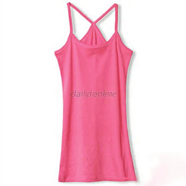 Womens Girl's Candy Colors Strap Tank Top Vest Shirt Bottoming Shirt Blouse