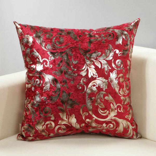 Modern Silver Pillows : Modern Silver Cushion Cover Floral Silk Decorative Pillow Throw Case eBay