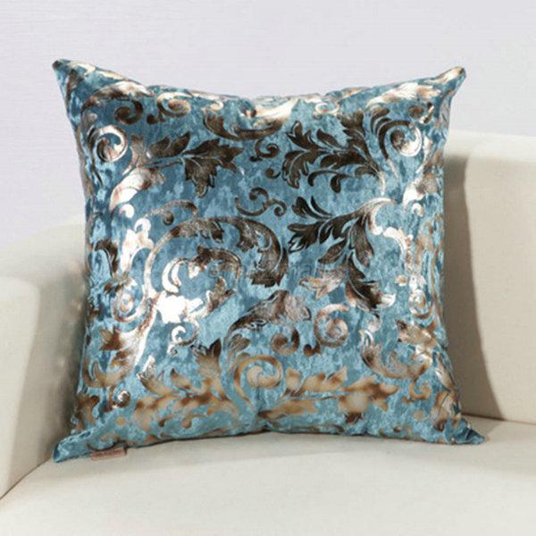 Modern Silver Cushion Cover Floral Silk Decorative Pillow Throw Case eBay