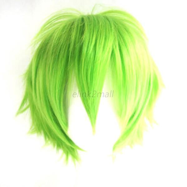 Fashion Short Wig WIth Mesh Cap Cosplay Party Costume Straight Wigs Full Wig