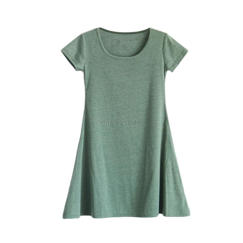 Fashion Women Cotton Casual Soft Long T Shirt Short Sleeve