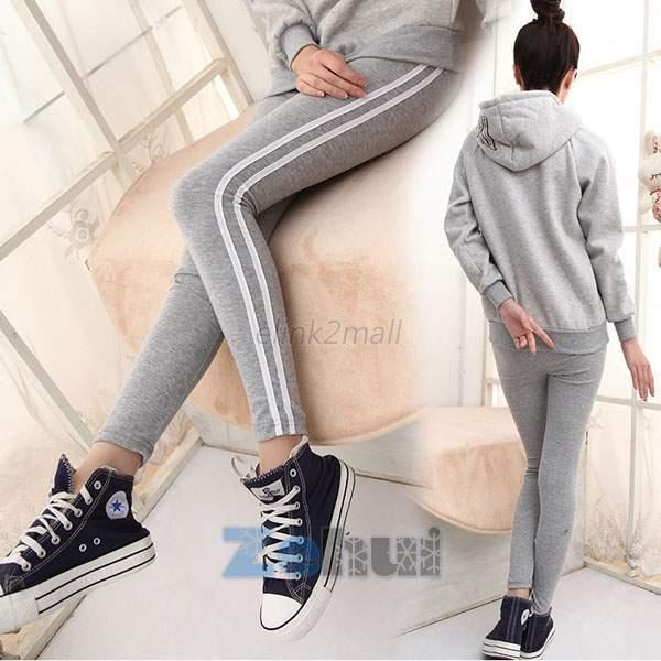 Yoga Gym Sports Trousers Women Stretch Pants Leggings Cotton Sweatpant EKO