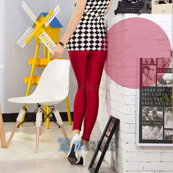 Womens Stretch Candy Pencil Pants Casual Slim Fit Skinny Legging Trousers E41